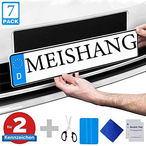 Nummernschildhalterung Auto Rahmenlos,Klett Kennzeichenhalter-Set,Kennzeichenhalter Auto klett,Auto Kennzeichenhalter Set Rahmenlos,Klettverschluss Nummernschild Set