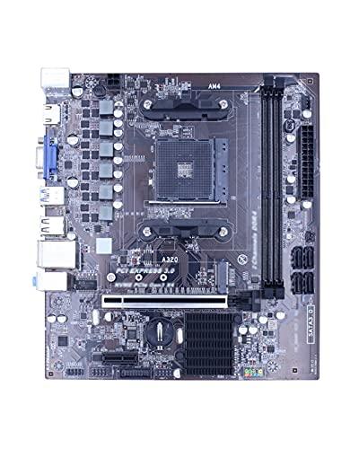 GIAO Placa Base AM4 A320 Matriz de Discos de Escritorio SATAIII USB 3.0 DDR4 16G Memoria M.2 SSD para AMD AM4 Socket Ryzen CPU Mainboard