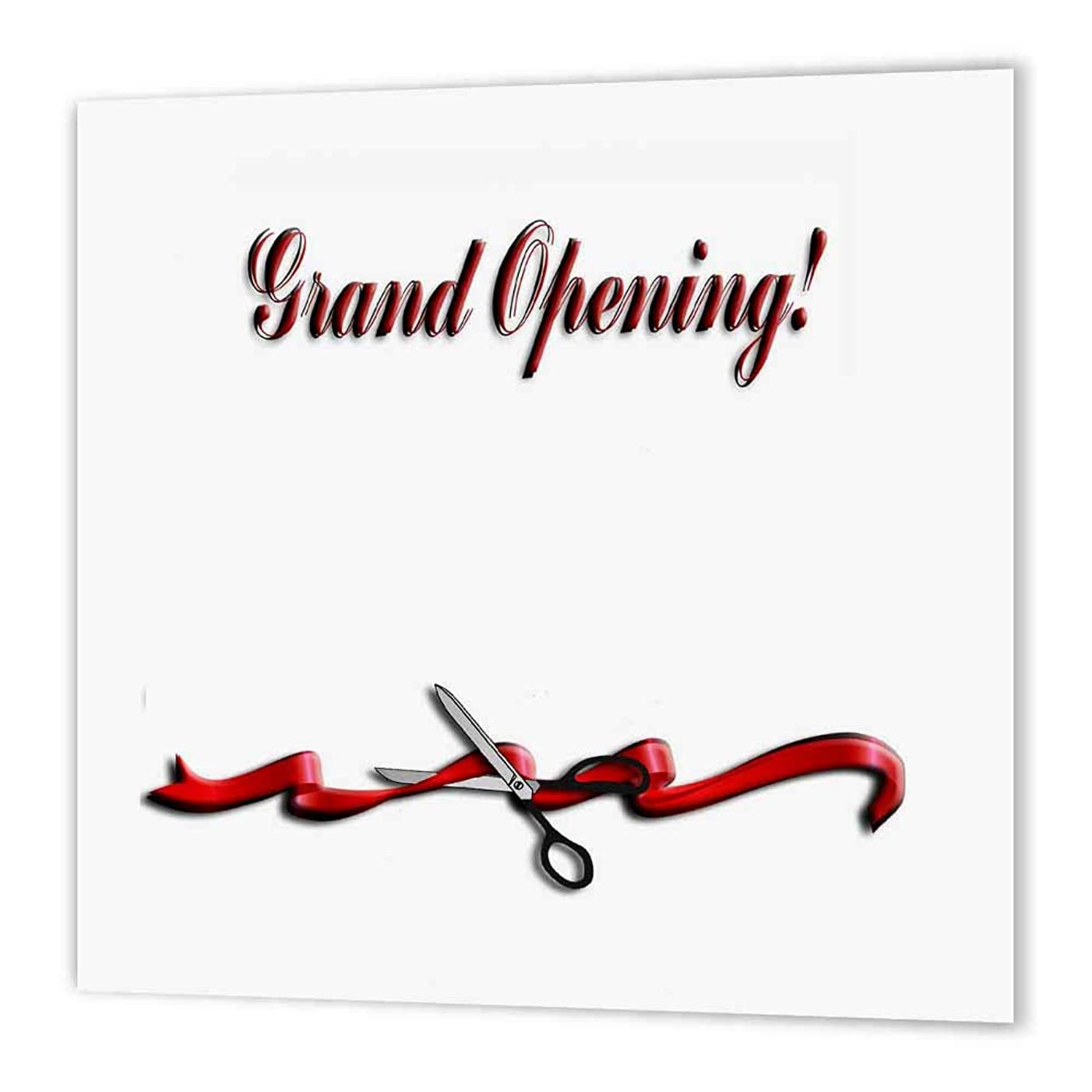 3dRose ht_43334_3 Grand Opening, Business, Ribbon and Scissors-Iron on Heat Transfer Paper for White Material, 10 by 10-Inch