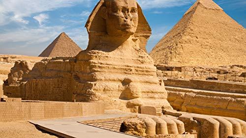 HHYSPA Rahmenlose Malen Nach Zahlen Für Erwachsene Und Kinder DIY Ölgemälde Geschenk Kits Ägypten Pyramide Ägyptischen Landschaft DIY Zubehör Auf Leinwand 40X50CM