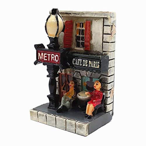 3D Metro Coffee Shop Of Paris France Fridge Magnet Travel Souvenir Gift Collection Home Kitchen Decoration Magnetic Sticker Paris Refrigerator Magnet