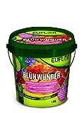 Euflor Blühwunder 1 kg Eimer • sorgt für reiche Blütenfülle und gesunde grüne Blätter • NPK-Dünger 15+10+15 mit 2% MgO + Eisen und Spurennährstoffen • Spezialdünger