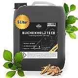Martenbrown® Reiner Buchenholzteer im XXL-Kanister [5 Liter]   Lockmittel für Schwarzwild und Rotwild   Wildschwein Köder und Kirrmittel für die Jagd