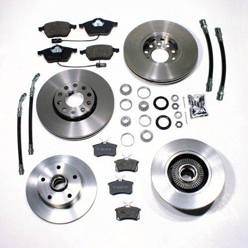 Bremsscheiben/Bremsen + Bremsbeläge vorne + Bremsscheiben mit ABS Ringen + Bremsbeläge Radlager hinten + Bremsschläuche vorne + hinten