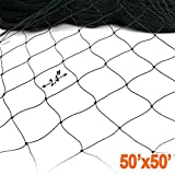 ZL 11 Bird 50' X 50' Netting for Poultry Aviary Game Pens New 2.4' Sq, Black