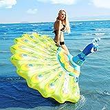 2020 Peacock Letto Flottante Letto Gonfiabile Materasso Ad Aria Galleggiante Nuoto Piscina di Acqua Galleggiante Aria - Materasso Giochi d'Acqua Nuoto Animali Materassino
