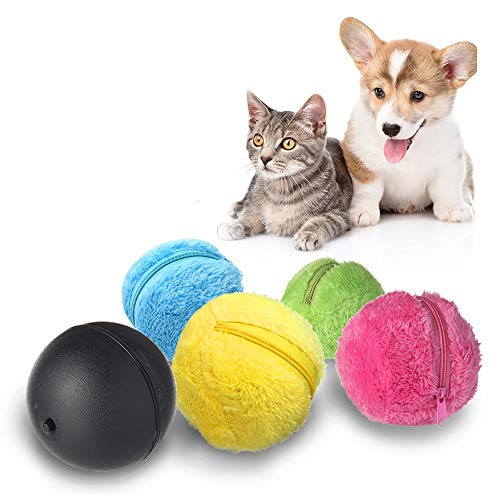 Teepao Magic Roller Ball Jouet, automatique Roller Ball Magic Ball Jouet pour chien et chat (1 Rolling Ball 4 Couleur Boule Coque)