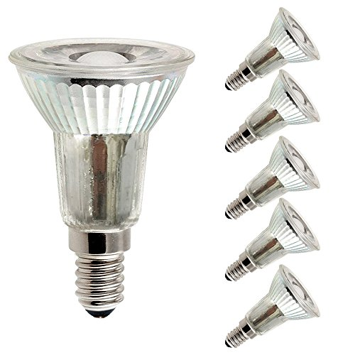 5 x LED Leuchtmittel Glas Reflektor PAR16 5W = 40W E14 420lm JDR warmweiß 2700K Retrofit flood 38° (5 Stück)