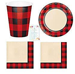 buffalo plaid christmas decor dishes
