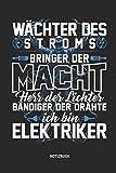 Notizbuch: Lustiges Elektriker Notizbuch mit Punktraster. Tolles Zubehör & Elektricker Geschenk Idee.
