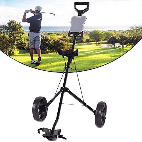 Push Pull Golf Cart, Chariot de Golf 2 Roues Pliant léger voiturettes de Golf avec réglable et poignée de poussée et Tableau de Bord Frein à Pied Groupe Multi-Fonctions