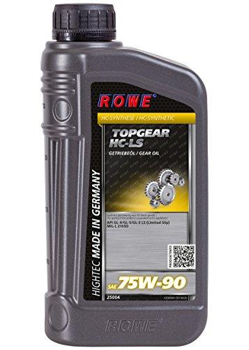 ROWE - 1 Liter HIGHTEC TOPGEAR SAE 75W-90 HC-LS Getriebeöl - für PKW mit Schaltgetriebe und Achsantriebe mit und ohne Sperrdifferentialvollsynthetisch