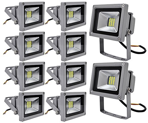 10x 20W SMD Foco LED Impermeable IP65 pared Foco Iluminación(Blanco Frio)