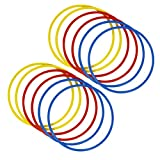 FITSY® Speed Training Agility Rings Set for Sports, Fitness, Gymnastic, Pack of 12