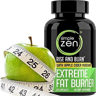 Simple Zen Weight Loss Pills with Apple Cider Vinegar Appetite Suppressant, Fat Burner Garcinia Cambogia, Metabolism Booster Green Tea Extract. Diet Pills That Work Fast for Women + Men