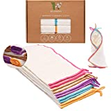 Reusable Bamboo Towels | Kitchen Unpaper Towel | Eco-Friendly Paper Towel Alternative | Organic Wipes | Unbleached Cleaning Cloth | Washable Napkins | Thick&Strong Kitchen Roll