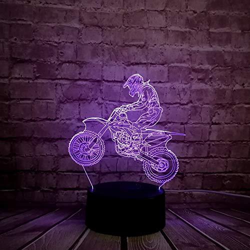 3D LED optische illusie lamp nachtlampje nieuwigheid cadeau voor kinderen voor kleurrijke interieur met afstandsbediening nachtlampje lamp op maat