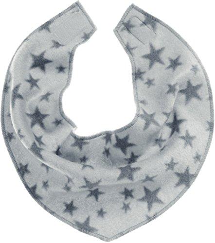 Playshoes Baby-Unisex mit Klettverschluss an der Rückseite, mit Sternen-Muster legeres Hals-Tuch, grau, one size