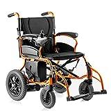 ZDW Silla de ruedas Aleación de aluminio Plegable Silla de ruedas eléctrica portátil, Joystick inteligente Batería de litio ultraligera Completamente automática Silla de ruedas eléctrica práctica mul