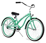 Firmstrong Bella Classic Single Speed Beach Cruiser Bicycle, 24-Inch, Mint Green