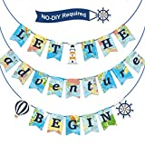 Let the Adventure Begin Banner Travel Bon Voyage Banner Travel Themed Party Supplies for Birthday Graduation Retirement Farewell Adventure
