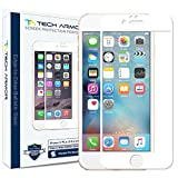 Tech Armor Hybrid Edge to Edge (.2mm) Glass Screen Protector for Apple iPhone 6 Plus /6s Plus [White] [1-Pack]
