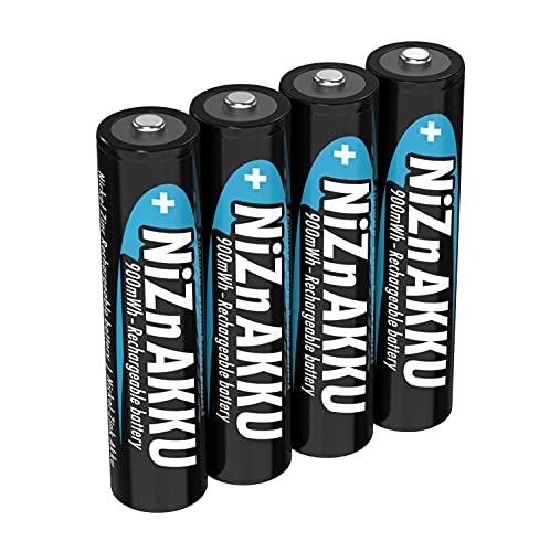 ANSMANN Allinea il titolo secondo DE: Batteria ricaricabile Micro NiZn AAA 1,6 V 900 mWh, 4 batterie ricaricabili