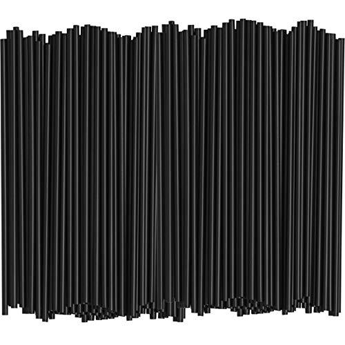 1000 Bulk Pack 5 Inch Plastic Sip StirrersStraws - Disposable Stir Sticks for Coffee Cocktail - Black