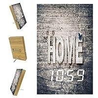 寝室用デジタル目覚まし時計キッチンオフィス3アラーム設定ラジオウッドデスククロック-ハウスホームワード