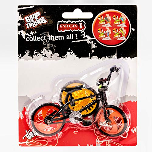 Grip & Tricks - Finger BMX - Mini BMX Freestyle Pack1 Black Model - Mini Fahrrad Freestyle