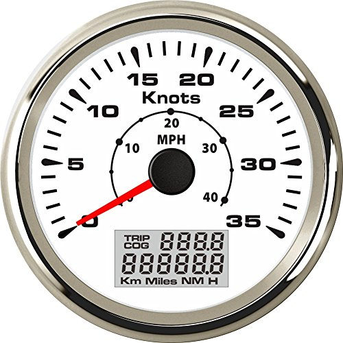 """ELING 3-3/8"""" Boat Yacht GPS Speedometer Odometer 0-35KNOTS 0-40 MPH with ODO COG Trip 9-32V"""