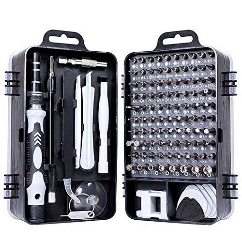 Juego de Destornilladores, 115 en 1 Destornillador de precisión Kit de Herramientas de reparación de Destornillador magnético Kit de Herramientas de reparación Profesional para Phone,Computadora