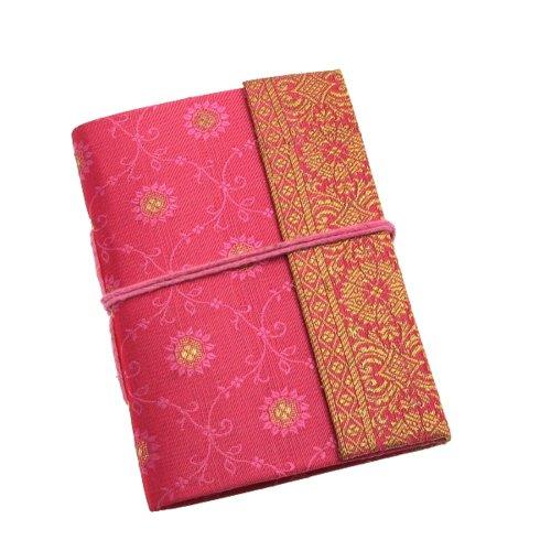 Fair Trade Block notes ricoperto in tessuto sari 80 x 105 mm mini blu