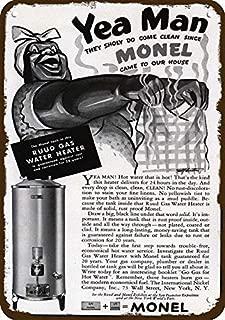 onepicebest 1939 Monel Rudd Water Heater Vintage Look Replica Metal Sign 7