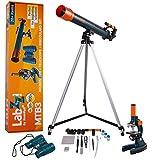 Levenhuk Kit de Iniciación LabZZ MTB3 para Niños (Microscopio, Telescopio y Prismáticos) – Kit de Ciencia con Todos los Accesorios Necesarios