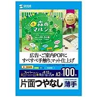 (4個まとめ売り) サンワサプライ インクジェット用スーパーファイン用紙A3サイズ100枚入り JP-EM5NA3-100