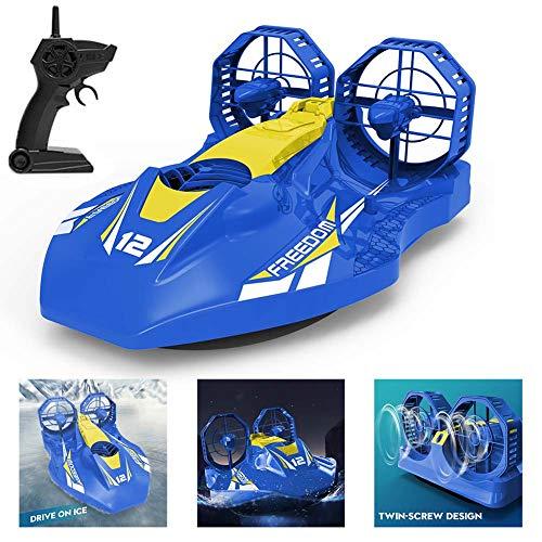 FXQIN RC Hovercraft Tierra y el Agua Barco de Control Remoto para...