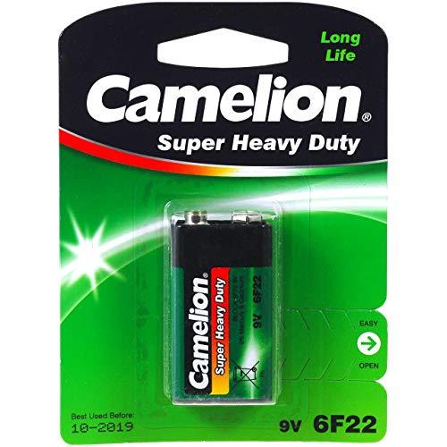 Pila Camelion Super Heavy Duty 6F22 9-V-Block Blister 1Ud., 9V, Alkaline