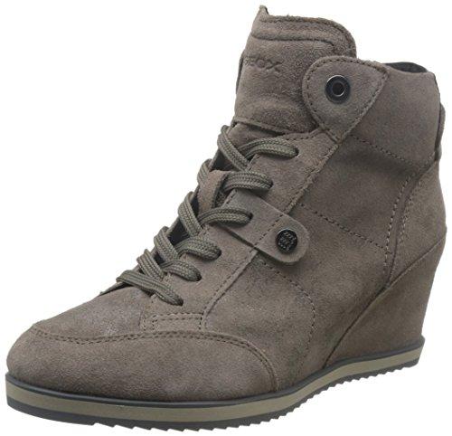 Geox Damen D Illusion A Hohe Sneaker, Braun (Taupe), 41 EU