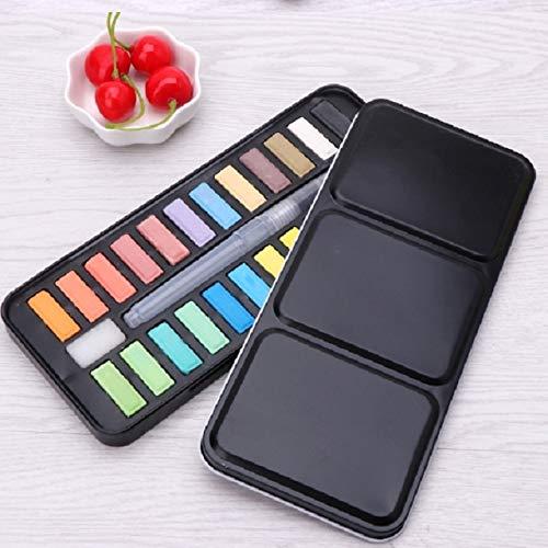 WEIHONG Papeterie Aquarelle Peinture solide Dessin Set Portable Fournitures Peinture acrylique Art (12 couleurs) WEIHONG (Color : 24 colors)
