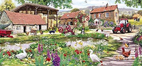 Yzqxiongtu Eendje boerderij puzzel speelgoed 1000 stuks, houten entertainment puzzel, volwassen kinderen educatief puzzel speelgoed