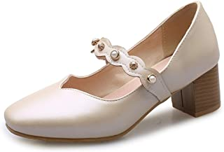 Smilice Women Court Shoes with Chunky Heel