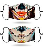 Sugar Skull Face Mask - Day of the Dead Face Mask Dia De Los Muertos Face Mask - Sugar Skull Mask Skulls Breathable Face Masks + 2 Mexican Face Mask for Women La Catrina Face Mask/Skull Face Mask