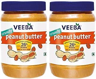 VEEBA Peanut Butter Crunchy Jar, 2 X 925 g