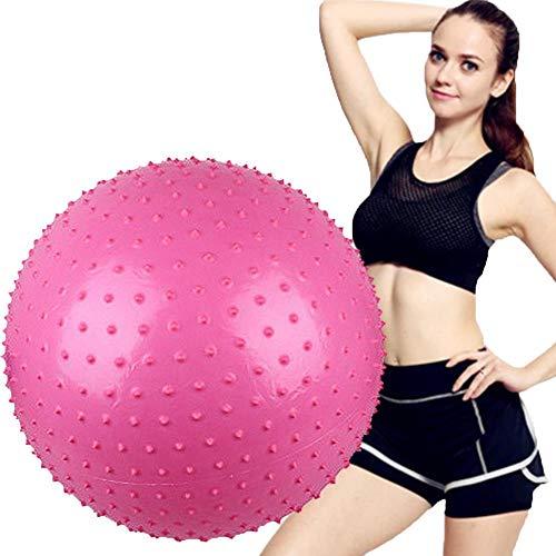 Sebasti Pelota de gimnasia para yoga, pilates, ejercicios abdominales, terapia de hombro, fortalecimiento de núcleos (hogar, gimnasio y oficina), pelota de yoga de 75 cm, color rosa