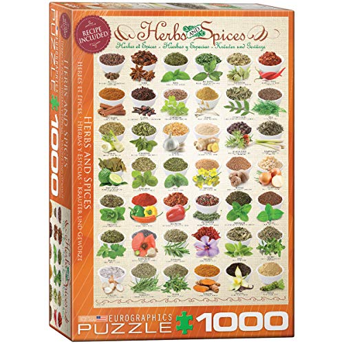 EuroGraphics Herbs and Spices 1000pcs Puzzle - Rompecabezas (Puzzle Rompecabezas, Comida y Bebida, Niños y Adultos, 1000 Pieza(s))