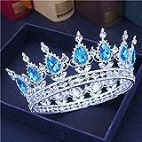 RUK Crystal Queen Crown Tiara y Tiara Bride Tocado de Mujer Accesorios para el Cabello Accesorios de joyería para la Cabeza de la Boda