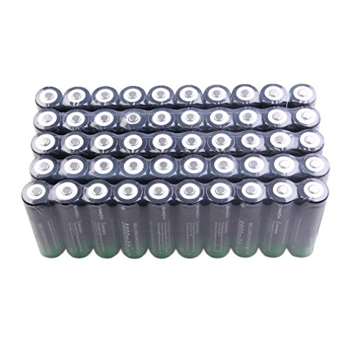 50pcs/Set 18650 Battery Lithium 3.7V 5800mAh High Capacity Cylindrical Button/niple top 18650 Batteries for LED Flashlight Torch Camera Electronic Tool Power Bank-Non-Flat top