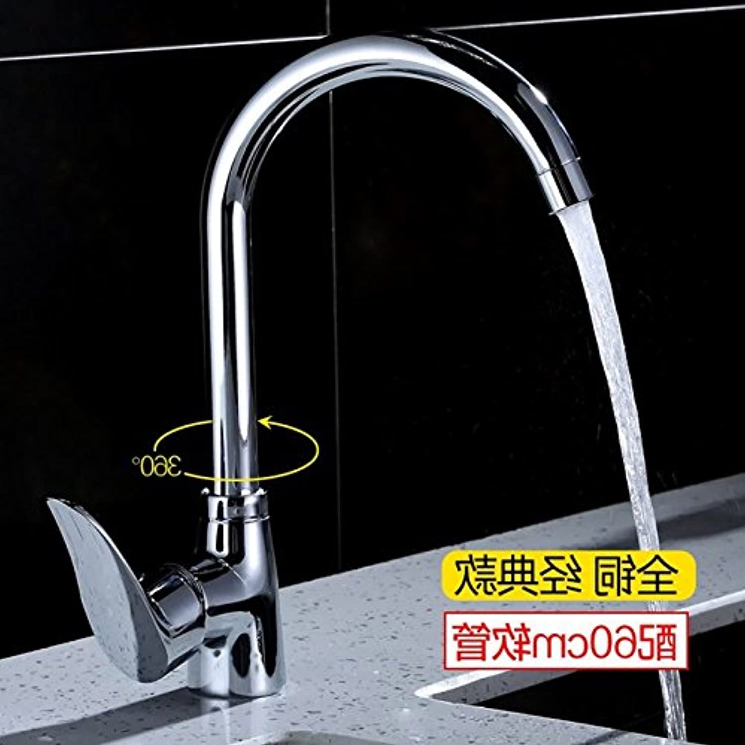 Lpophy Bathroom Sink Mixer Taps Faucet Bath Waterfall Cold and Hot Water Tap for Washroom Bathroom and Kitchen Square Tube Copper Hot and Cold Single Cold Plating Wire Drawing Tip Tee B