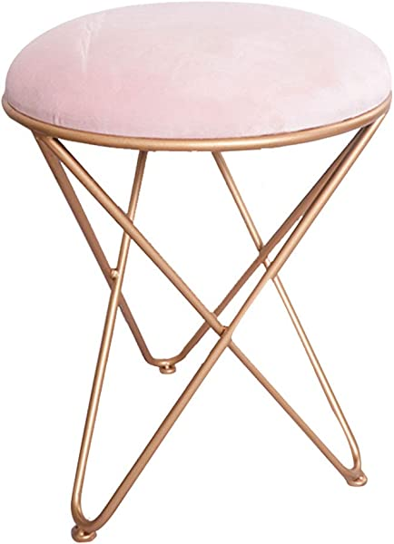 Modern Minimalist Stool Stylish Stool Dressing Table Stool Soft And Comfortable Optional Light Pink Deep Pink Blue Green Gray